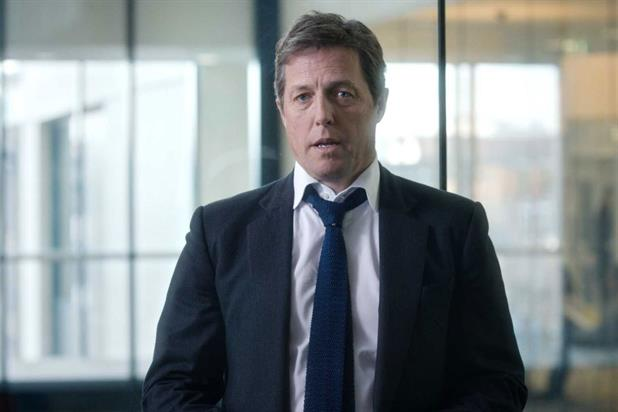 Hugh Grant: stars in new Guardian ad