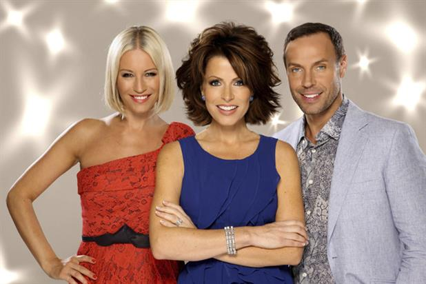 Born To Shine: host Natasha Kaplinsky (centre) with judges Denise Van Outen and Jason Gardiner