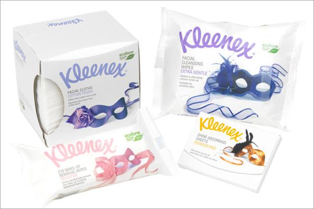 Kleenex: readies beauty range push