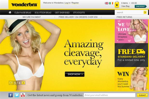 Wonderbra: launched its ecommerce site in April