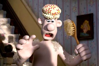 Wallace...appears in nude with Gromit in npower ad