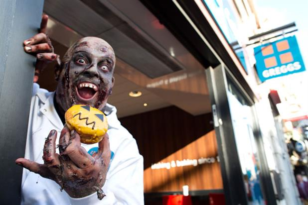 Greggs: online film features zombies on the high street
