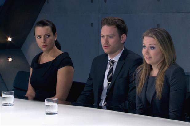 The Apprentice: Jade Nash, Tom Gearing and Laura Hogg at the end of last week's episode