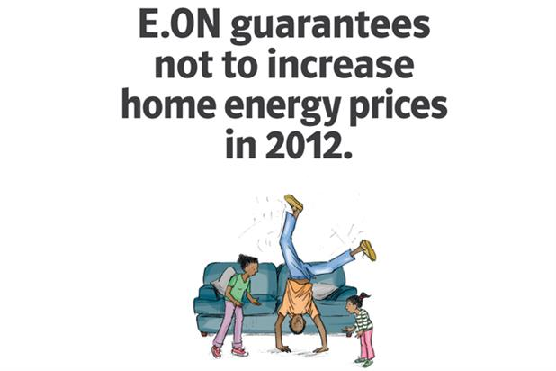 E.ON press ad: tactical work to take on British Gas