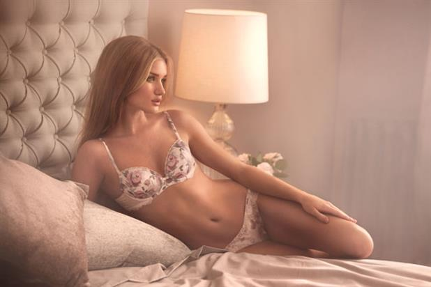 Rosie Huntington-Whitely: model is pictured here in a previous M&S ad campaign