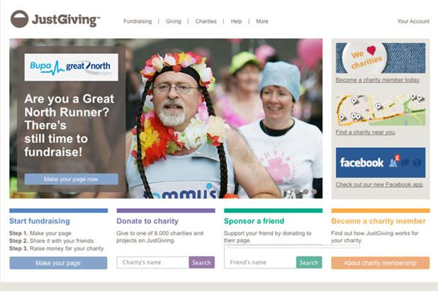 JustGiving: working with an ad agency for the first time