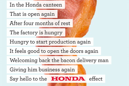 Honda: W&K's winning bacon ad