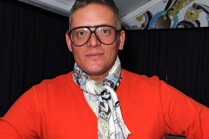 Giles Deacon...designed scarf for Cadbury
