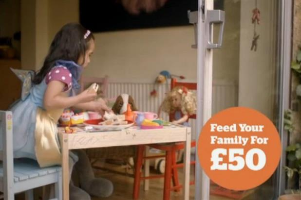 Sainsbury's 'feed your family for £50' TV ad