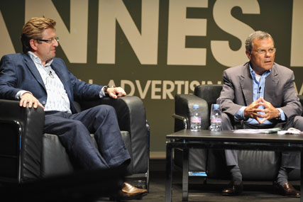 Keith Weed and Martin Sorrell: in conversation at Cannes