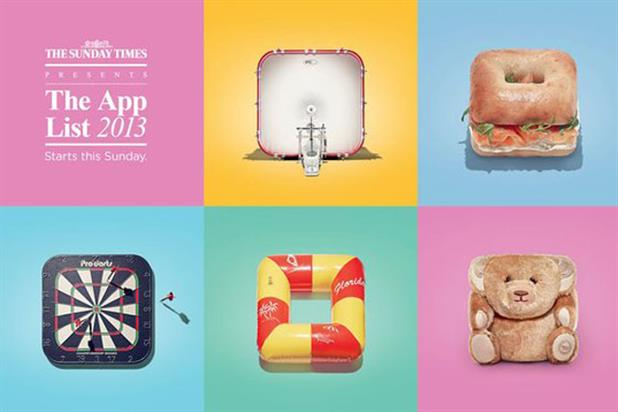 The Sunday Times: unveils campaign to promote its 2013 app list