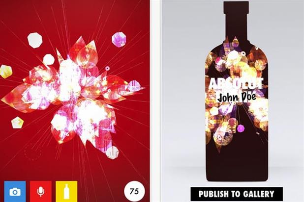 Absolut: vodka brand launches Absolut Blank iPhone app