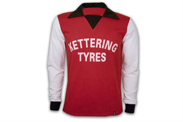 The first sponsored football shirt