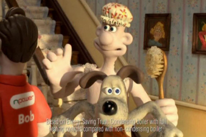 Npower…BMB work used Wallace and Gromit