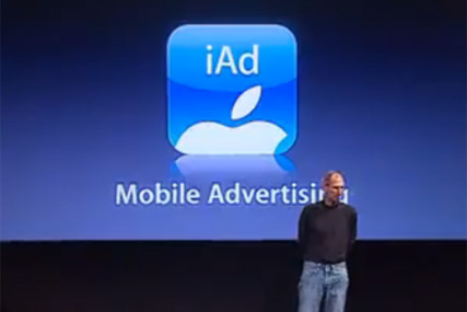 Steve jobs unveils iAds to Apple developers