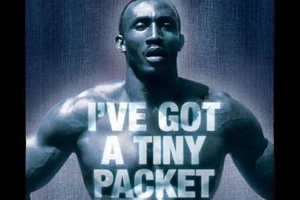 Linford Christie: stars in new Kleenex campaign