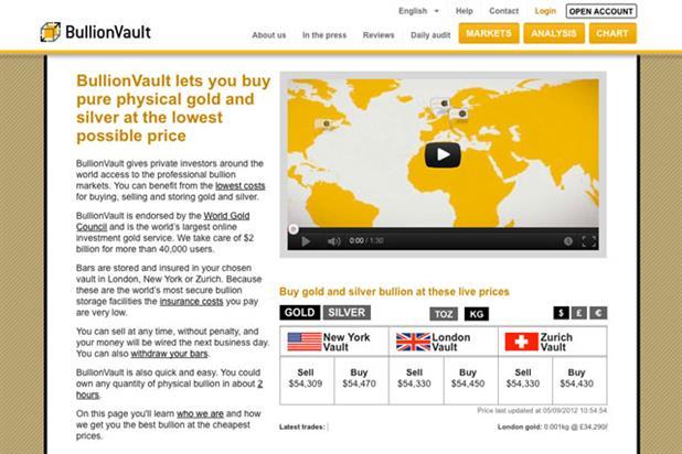 BullionVault: seeks agencies amid ramp-up in advertising