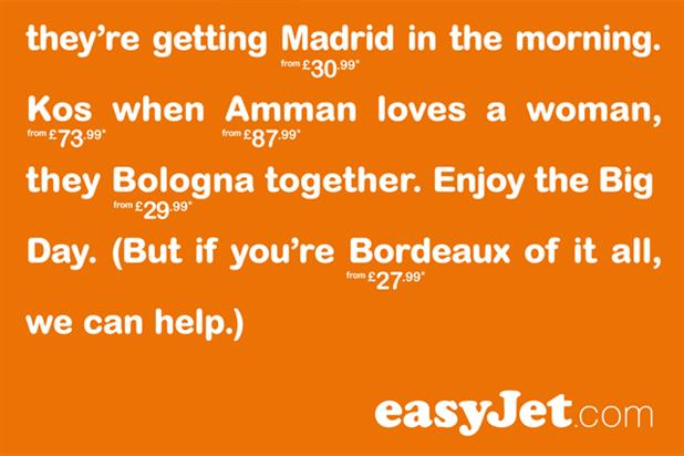 EasyJet: releases Royal Wedding themed ads