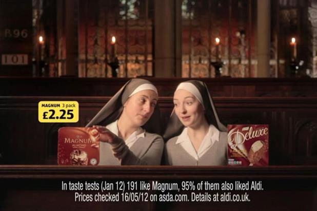 Aldi: 'nuns' was most-remembered ad in June