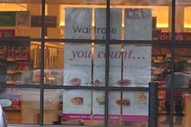 Waitrose: window display says more than was intended