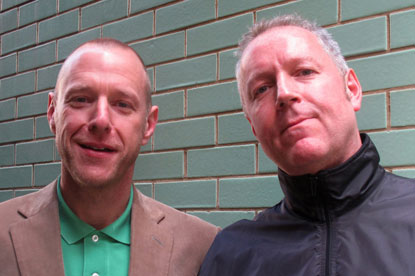 Simon Brotherson (l) and Rob Macdonald...Euro RSCG KLP joint creative directors