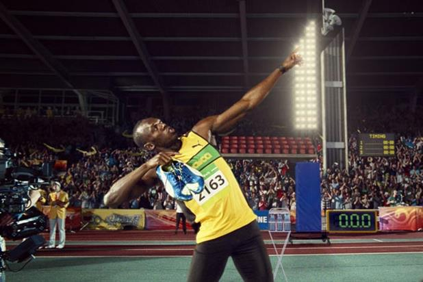 Usain Bolt: world's fastest man features in latest Channel 4 ident