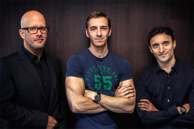 AKQA: Wharton (c) will work under Hilton (l) and Ahmed (r)