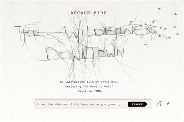 Arcade Fire: online work wins Grand Prix for Google Creative Lab