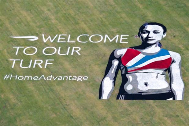 Ennis-Hill: the athlete welcomed passengers to Heathrow ahead of London 2012, where she won gold