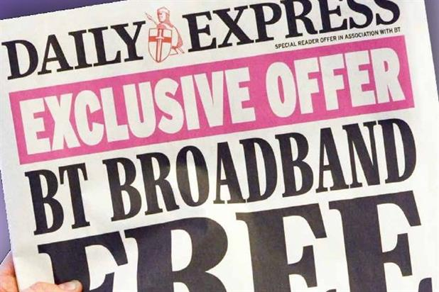 BT: offers free broadband and BT Sport in N&S campaign