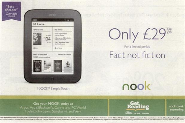 Barnes & Noble: Nook e-reader ad banned by the ASA over availability issue