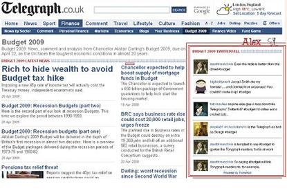 Telegraph... Twitterfall