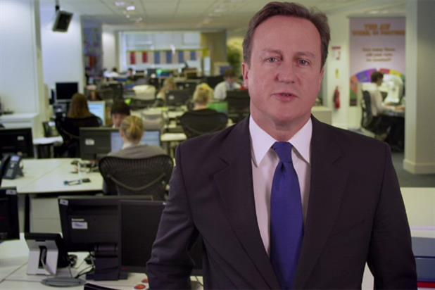 David Cameron: the Prime Minister appears on the TV charity appeal