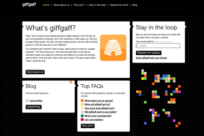 Giffgaff...launched by Albion