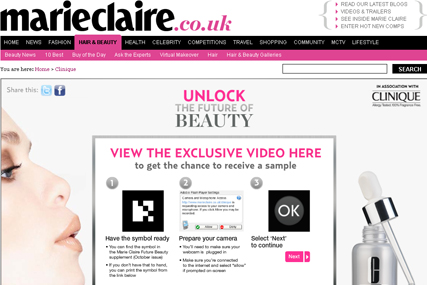 Marie Claire: augmented reality campaign
