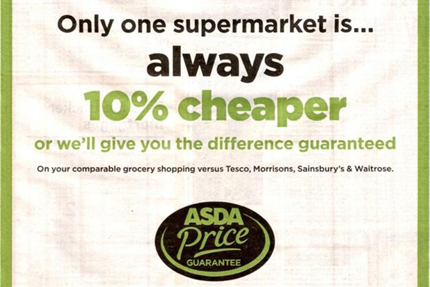 Asda: ASA bans price claim ad after complaint from Tesco