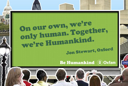 Oxfam: calls brand pitch