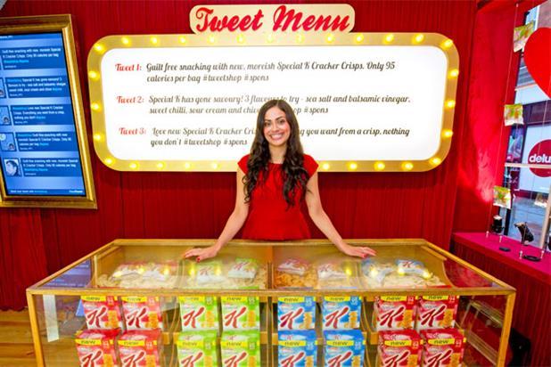 Tweet Shop: Kellog's launches social media push for Special K Cracker Crisps range