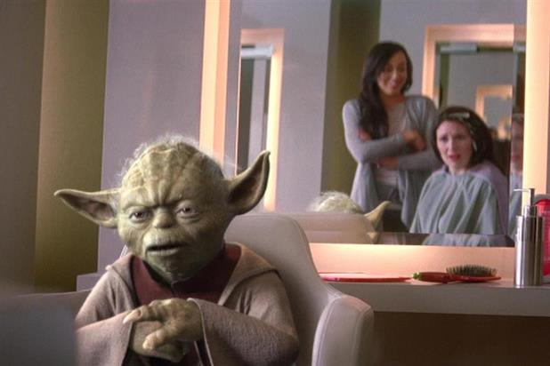 Vodafone: both local advertising, which features Yoda, and global activity are shown in the UK