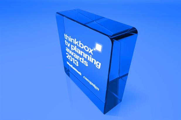 Thinkbox TV Planning Awards 2013