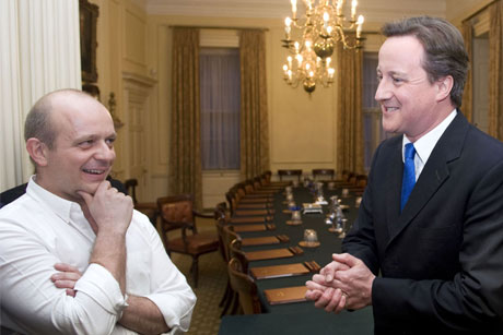 Adviser: Hilton during his time at Number 10 with the PM (Credit: Rex Features)