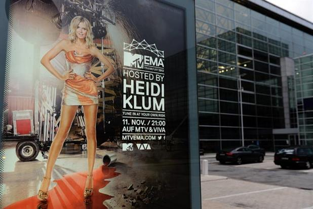 MTV EMA: hosted by supermodel and presenter Heidi Klum