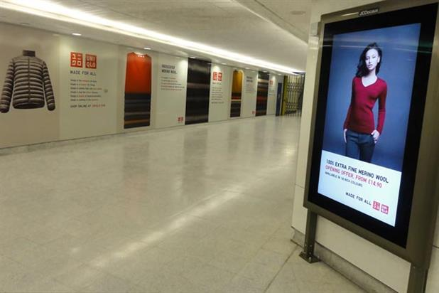 Uniqlo: five-week outdoor campaign at Stratford rail station