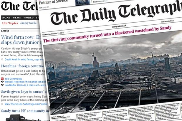 The Daily Telegraph: biggest daily readership across print and web in the quality sector