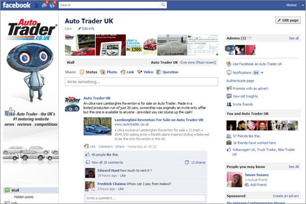 Auto Trader: UK Facebook page