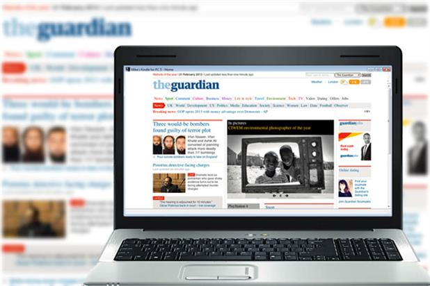 Mail Online and Guardian lead record highs for newspaper sites in January