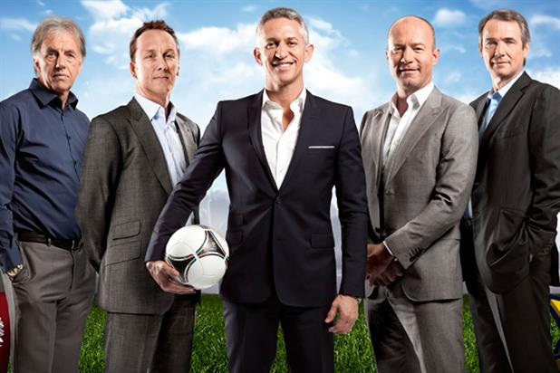 BBC One's Euro 2012 team