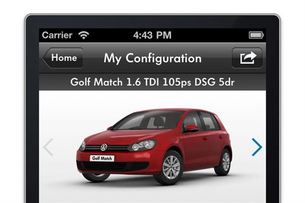 VW 'car configurator iPhone app' by DDB UK