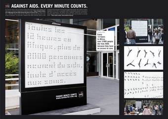 Solidarité Sida (AIDS Solidarity) 'clocks' by Euro RSCG France