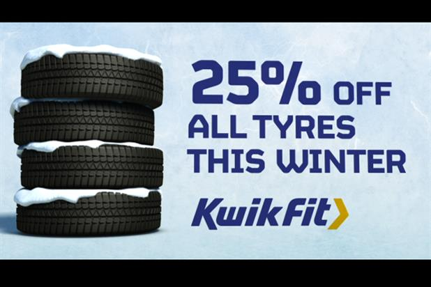 Kwik Fit 'Ice Age tyre promo' by Adam & Eve/DDB